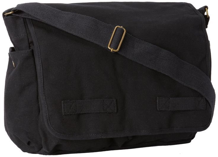 Amazon Com Rothco Classic Messenger Bag Black Clothing