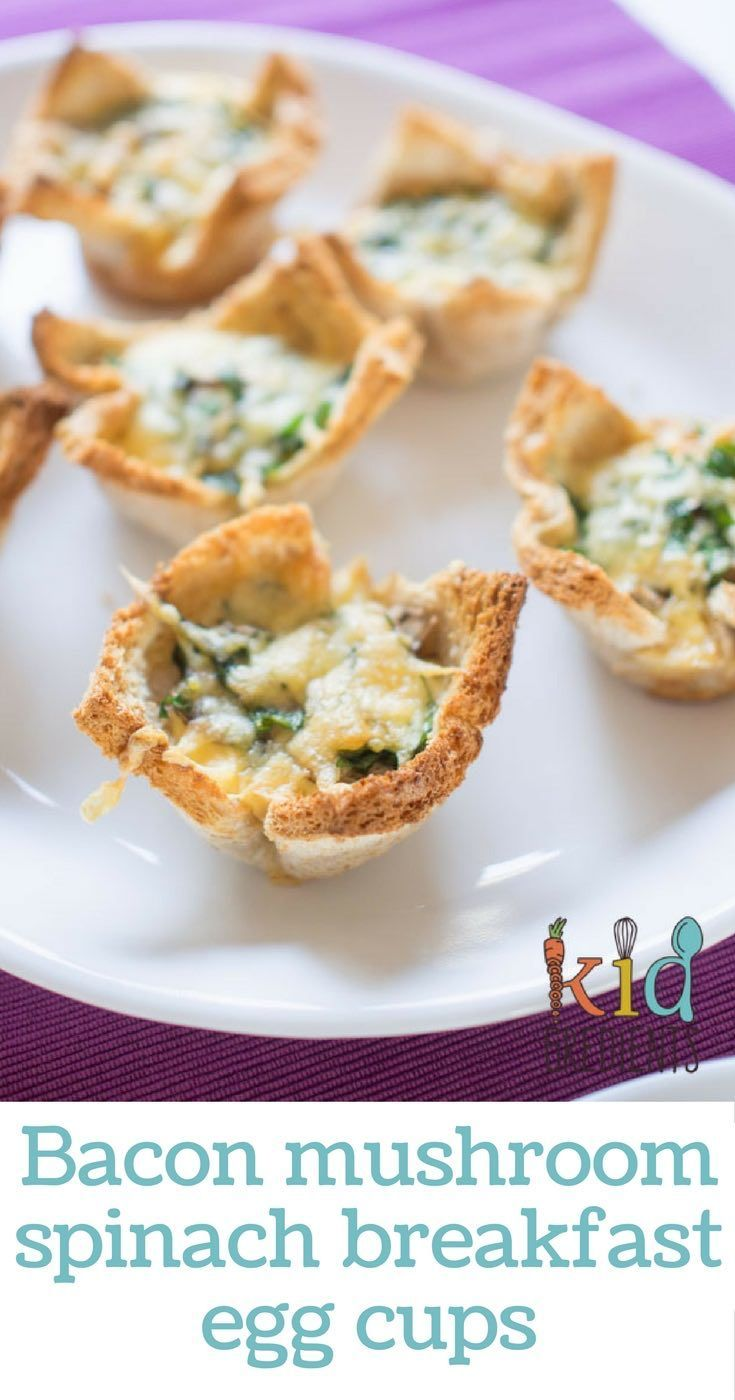 Fantastic bacon mushroom spinach breakfast egg cups that will shake up your morning. Easy to make recipe with a quick bread crust!
