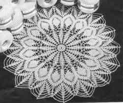 "Easy crochet doily pattern – Grandmother's Pattern Book – Christmas in July! Written pattern approx 18"""