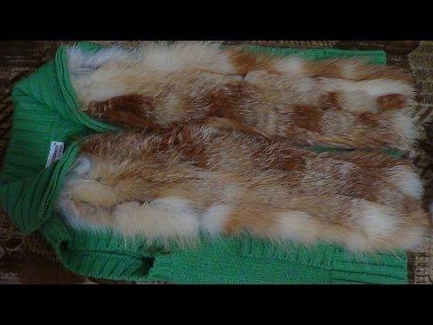 Подробный мастер-класс - Как сшить меховую жилетку из ненужных кусков меха? - YouTube