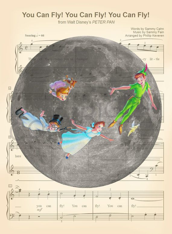 Peter Pan lune Art Print par AmourPrints sur Etsy