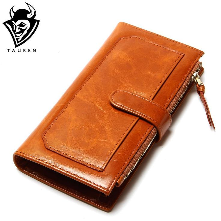 New Vintage Long Style Leather Womens's Two-Fold Wallets Female Wallet Card Places Women Clutch