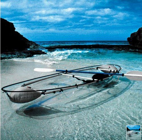The Transparent Canoe Kayak - Hammacher Schlemmer $1600....you know, for whenever I'm near clear waters haha