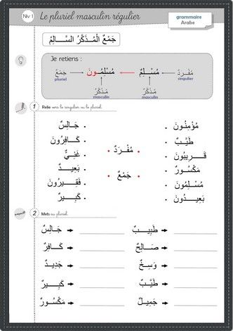 Le PLuriel // Arabic