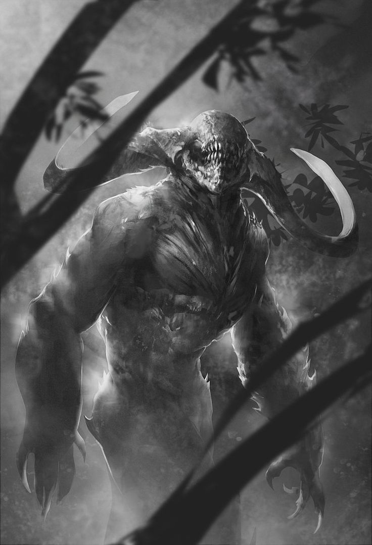 dark forest creature sketch by *Alejandro-Mirabal on deviantART #art #painting #creature #monster