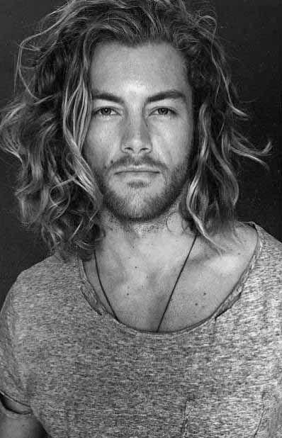 Wavy Surfer Mens Hair Long Length