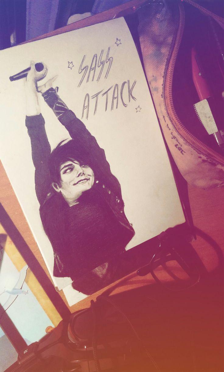 Gerard Way sassy pencil drawing instagram: @eenterprisee