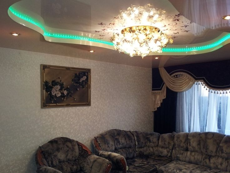 PVC stretch ceiling for living rooms