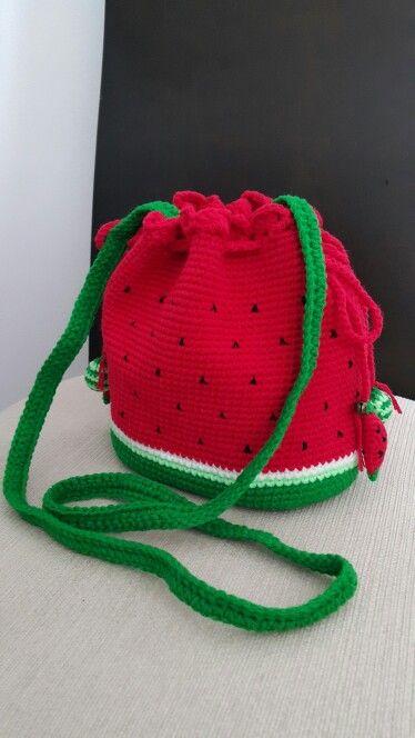 Crochet cross body watermelon bag by pornphun