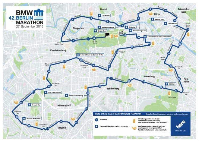 Le parcours du marathon de Berlin, kilomètre par kilomètre