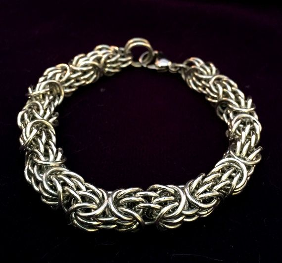 Silver Chainmaille Bracelet Aluminum от TalespunMaille на Etsy