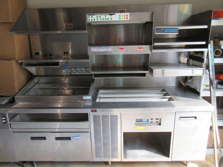 "Taco Bell Kitchen delfield refrigerated custom ""taco"" bell prep island station w"