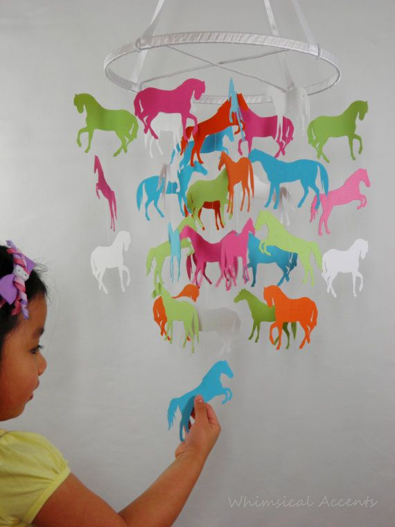 Horse Silhouettes Mobile Choose Your Design by whimsicalaccents, $70