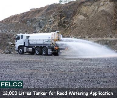 Gympie Regional Council. 12000 litre #Container #Tanker, direct Chassis mounted for #Road #Watering applications. #Felco - http://goo.gl/15Pbn1