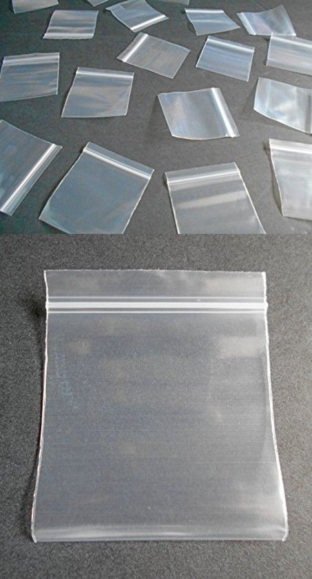Mini Clear Poly Bags - Small Plastic Baggies - Thick Rave Party Pouches - Tiny Transparent Ziplock Dime Bag (100, 2x2)