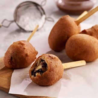 Add a fun fruity bite to dessert with my Deep Fried Banana with Chocolate & Peanut Butter.