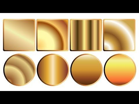 Julia Rose / Уроки по Adobe illustrator / how to draw a golden gradient in Adobe Illustrator - YouTube
