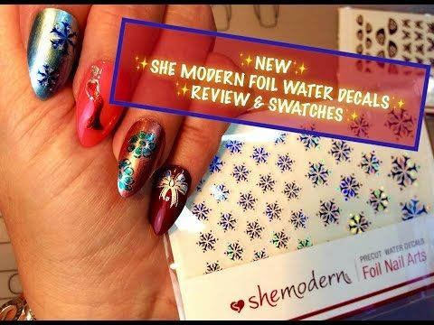 ✨NEW!✨ SHE MODERN PRECUT FOIL WATER DECALS✨ REVIEW & SWATCHES - YouTube