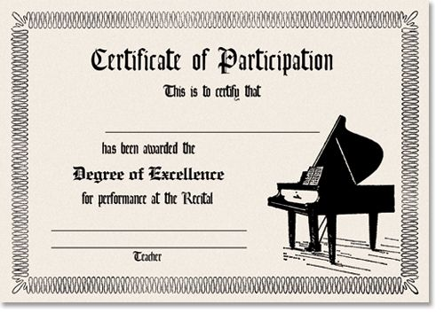 11 best recital certificates images on pinterest piano lessons a3328pianocertificate7af9g 500353 pixels yadclub Choice Image