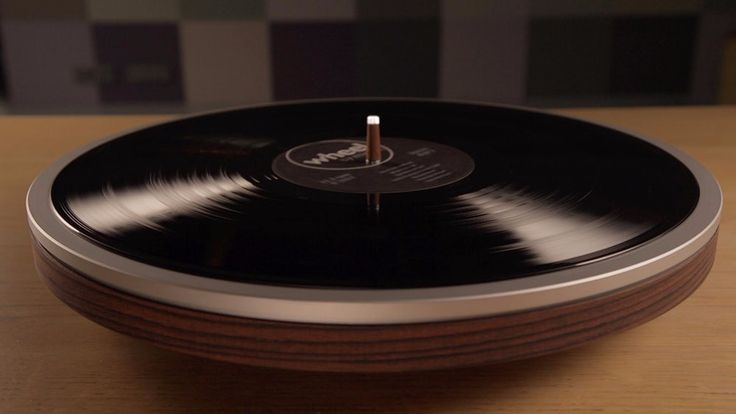 Minimalist turntable gets under the groove. A  family business in the Netherlands has launched the Wheel on Kickstarter.