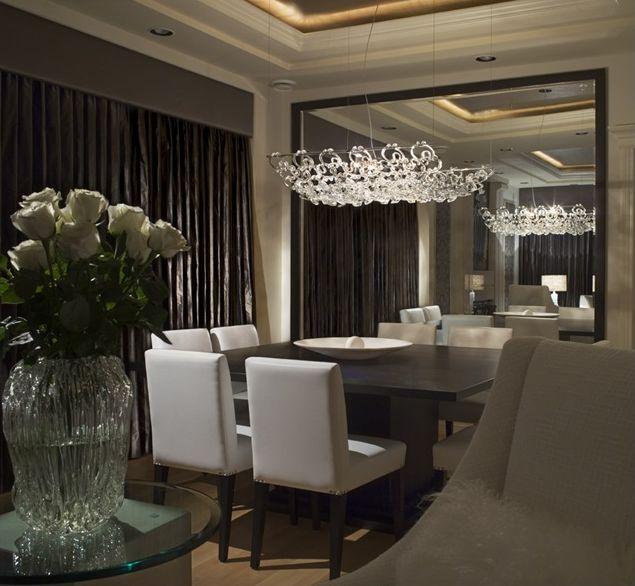 Framed Mirror Wall.: Interior Design, Dining Rooms, Decor, Ideas, Large Mirrors, Dining Table, Living Room, Dinning Room