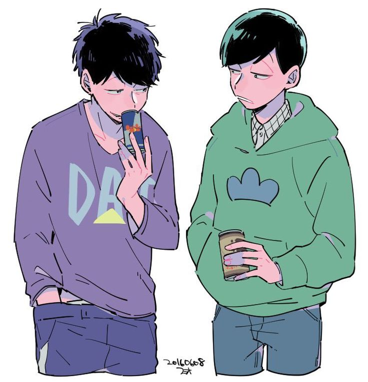 Ichi's got Red Bull, Choro's got coffee (i assume does anyone recognise the can?)