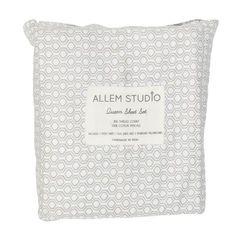 Honeycomb,Gray,Bed,Sheets,Bed Sheet sets, Block printe Sheet sets, Scandinavian bedding, Modern bedding, Block print bedding, Hand print bed...