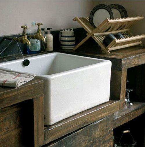 Rustic Kitchen Sink: Poppytalk: If I Had A Cottage... On Pinterest