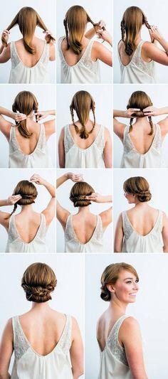 Quick-Frisur-Tutorials-für-Büro-Frauen-20 #frauen #frisur #quick #tutorials