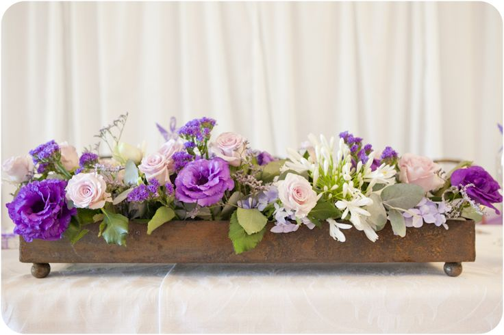 Rustic with colourful purple