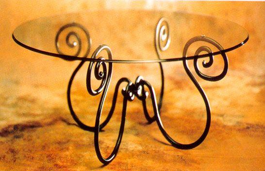 Soporte de mesa de hierro forjado