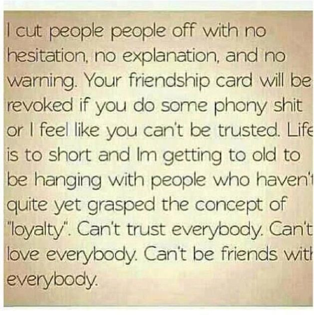 Couldn't have said it better myself...seriously no one has any loyalty these days or cares about more than themselves
