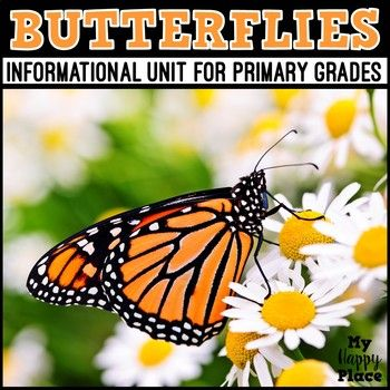 This informational butterflies unit for primary grades includes a non-fiction PowerPoint slideshow, anchor charts, writing materials, and printables that will add interest and engagement to your teaching about butterflies and life cycles.  This set is also part of a money-saving life cycles bundle!