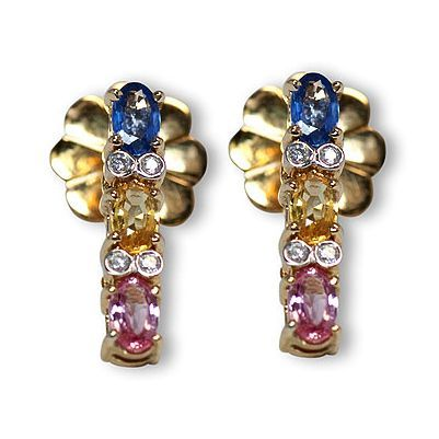 This is one additional lovely colorful gemstone earrings - Parris Jewelers #jewelry