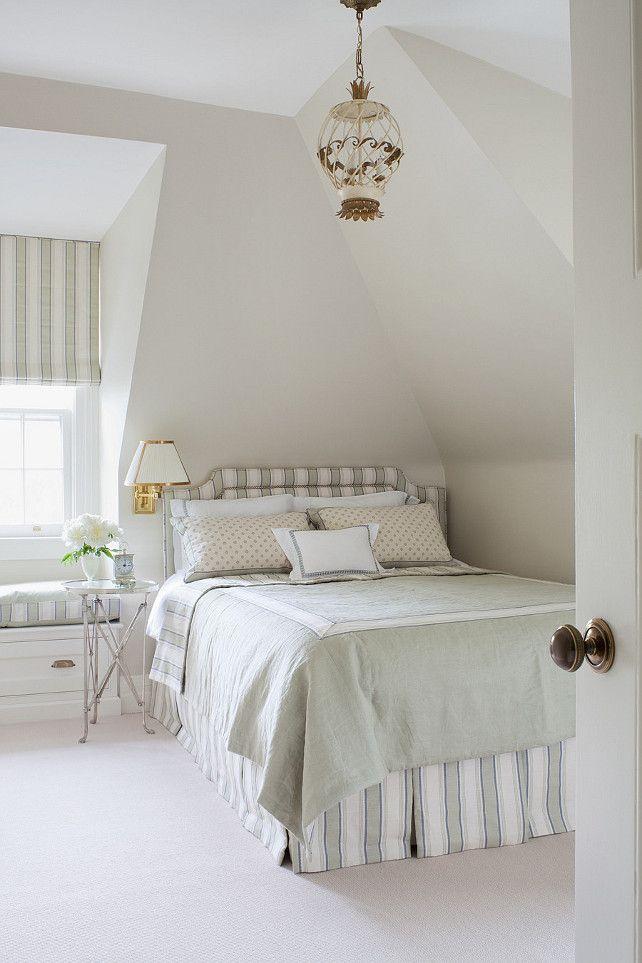 Pale Oak Benjamin Moore. The bedroom paint color is Benjamin Moore Pale Oak. #BenjaminMoorePaleOak  Anne Hepfer Designs.