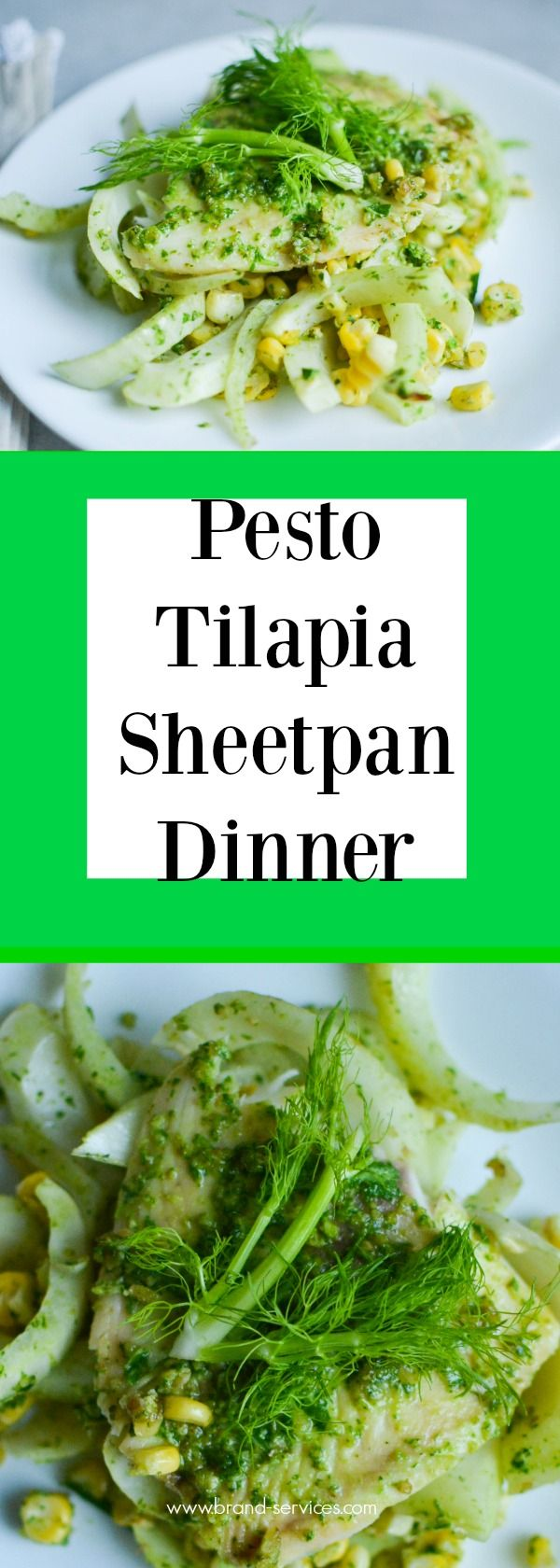 Dinner in under 30 minutes with little cleanup! Try my NEW recipe for Pesto Tilapia Sheetpan Dinner on One Hungry Bunny now! This recipe is Dairy Free and Gluten Free!  Healthy Recipes | Fish Dinners | Weekday Meals| Gluten Free| Dairy Free | Pesto recipes | Sheet Pan Meals | Dietitian| Healthy Dinners | Seafood | Fennel