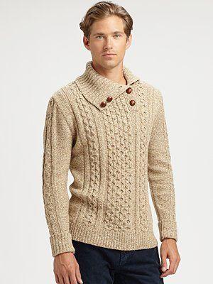 Gant Rugger Button-Roller Turtleneck Sweater
