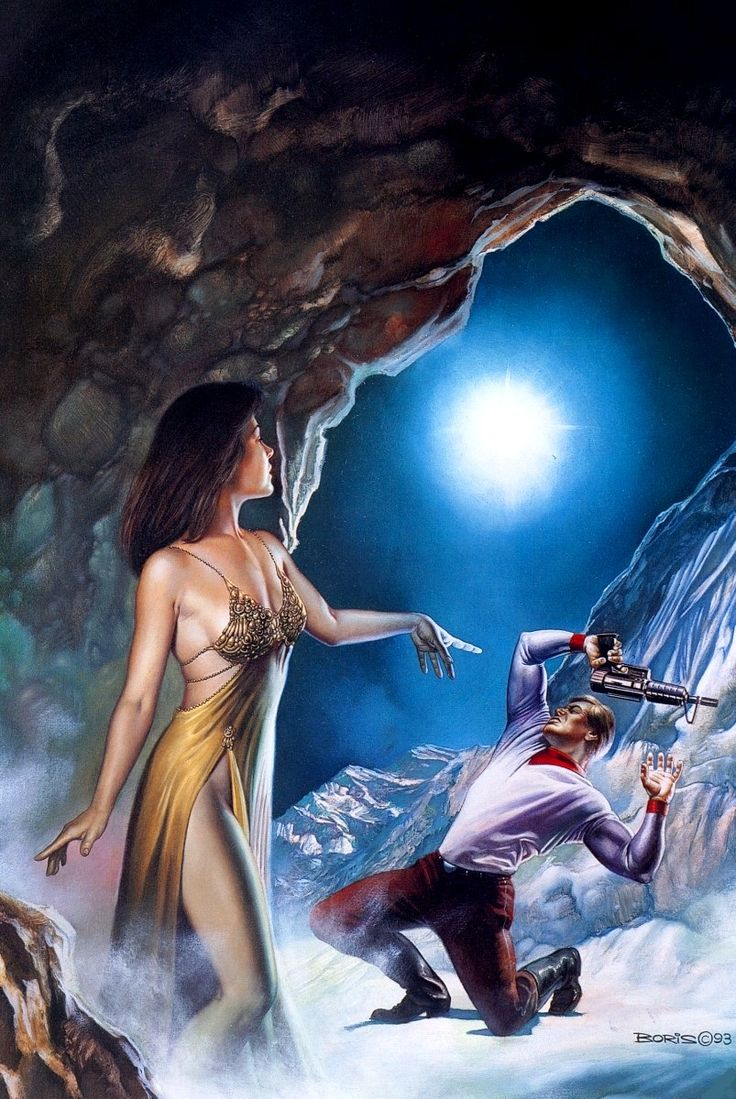 Orion and The Conqueror / Cave Fairy / 1993 (Boris Vallejo)