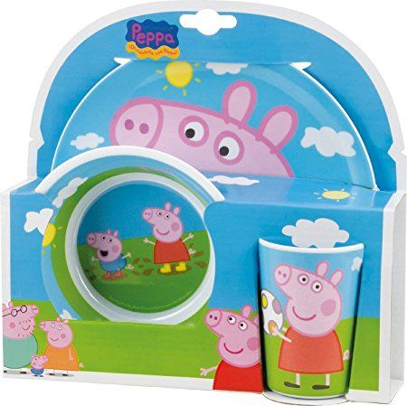 Joy Toy 748690 Peppa Pig 2 Melamine Plates and Cup Set in Gift Wrap