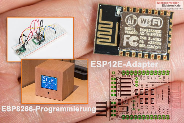 """In unserem letzten Beitrag """"NodeMCU und ESP8266"""" habe ich ja schon aufgezeigt wie einfach sich mit dem kleinen NodeMCU-Board tolle Schaltungen mit WLAN-Funktionalität basteln und programmieren lassen. In diesem Beitrag möchte ich zeigen, wie einfach sich die gleichen Programme auch direkt mit dem ESP12E-Modul verwenden lassen und welche Vor- und Nachteile dies hat und wie […]"""