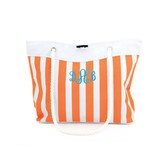 Bold Stripe Monogram Tote Bag-Lots of colors-add your monogram and choose thread color.