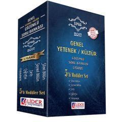2017 KPSS Genel Yetenek Genel Kültür Çözümlü 5 li Modüler Soru Bankası Seti Lider Yayınları
