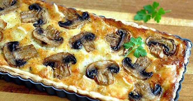 Киш с сыром и грибами