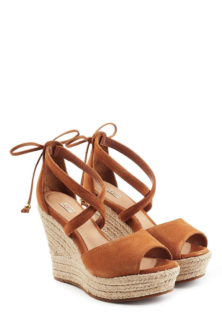 EU 39 oder 40 - Wedge-Sandalen aus Veloursleder - UGG Australia | WOMEN | AT STYLEBOP.COM