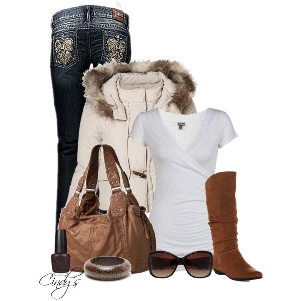 Outfit with coat and cute jeans