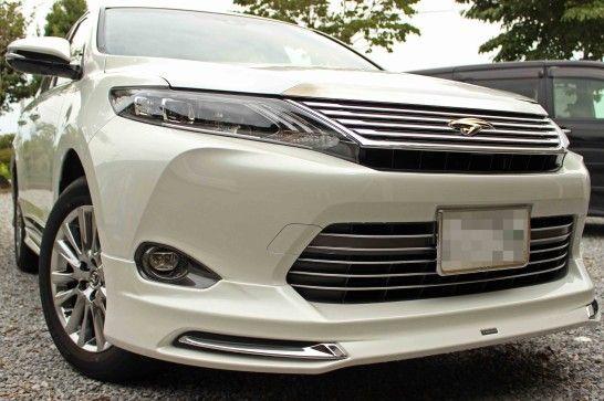 TOYOTA 新型ハリアーのエクステリア。モデリスタver1装着モデルです。 インパクトのあるフロントスポイラーがGOODです!http://bloooger.jp/harrier_exterior/ #ハリアー #自動車 #SUV