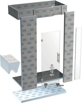 Duschen Als Verfliesbare Bausätze