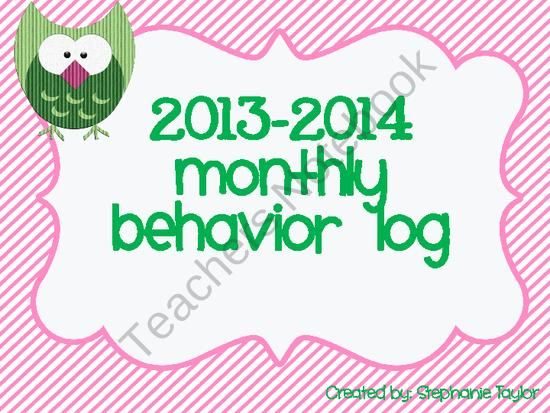 """Behavior Calendar Log 2013-2014 from Kinder Beezy Bee on TeachersNotebook.com (14 pages)  - Have a """"Hoot"""" of a time managing your students behavior and communicating with parents with these new """"OWL Behavior Log!"""""""