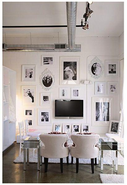 black & white frame wall
