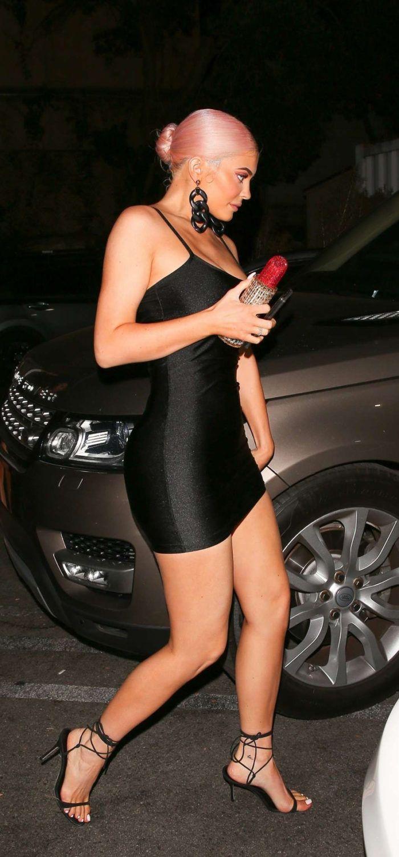 cd02f4f3c0e Kylie Jenner in Black Mini Dress